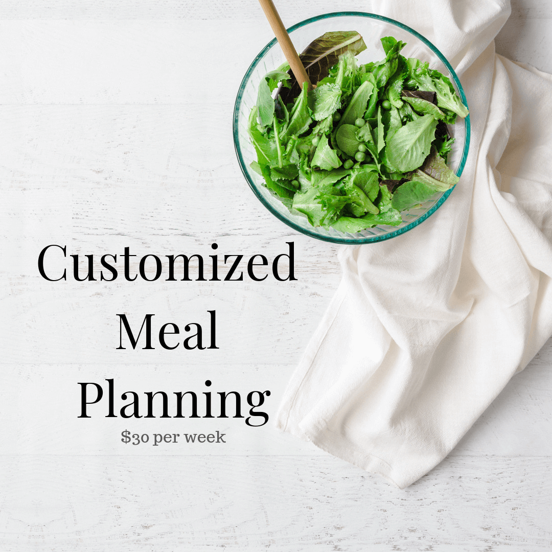 Customized Meal Planning <br/> (click to book)