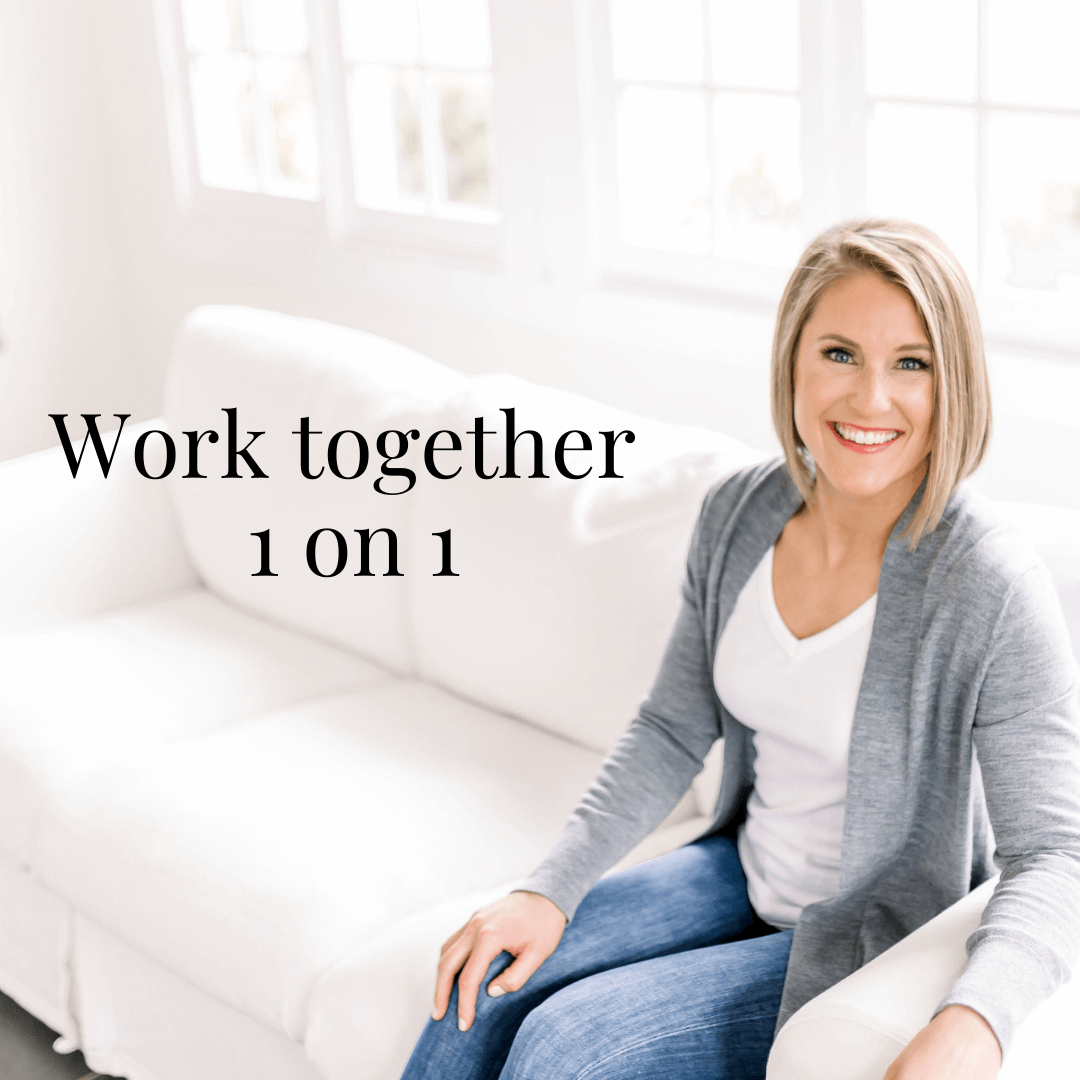 Learn More About Working Together 1 on 1 Here